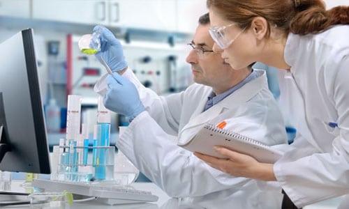 анализ в лаборатории
