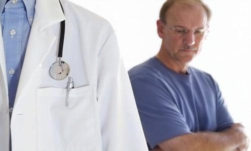 Посещения врача при простатите